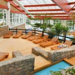 A Campsite With A Covered Indoor Pool Mont Saint Michel U2013 Lez Eaux Campsite