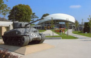 D-day beach and museum, second world war