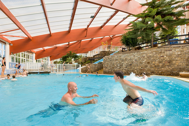 Castels Campsite 5 stars with an amazing indoor swimming pool in Normandy