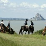 rijhuls in de baai van Mont Saint Michel